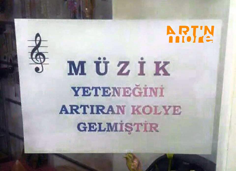 müzik yeteneği kolyesi