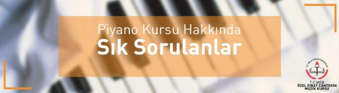 piyano kursu hakkında sık sorulan sorular